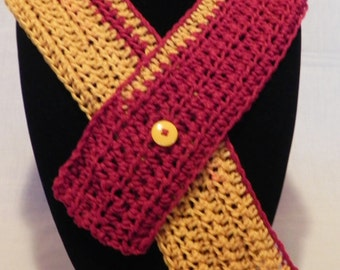 College Football Red and Gold Cowl Neckwarmer