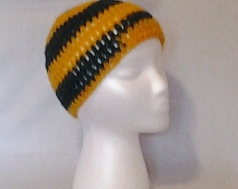 College Football Green & Gold Crochet Hat