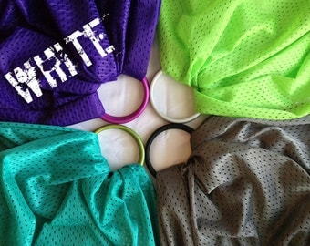 Bibetts 'White' Water Ring Sling Baby Carrier - CPSIA compliant - Infant, Toddler and Baby Carrier