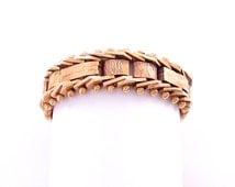 14K Sprocket Gold Ring - Gold Jewelry - Vintage 14K Fine Jewelry - Woven Ring