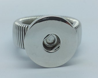 NOOSA Style Silver Tone Snap Ring For Chunk Popper Charms