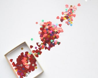 Heart and sequin confetti - great for Valentines Day