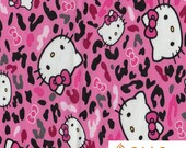 Hello Kitty Camo Pink 100 Percent Cotton Fabric By The Full Yard 5502