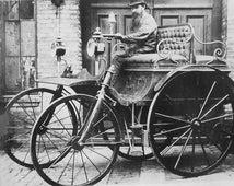 "1888 ""The Hammel"" Automobile- Horseless Carriage- Car - Photo Print"