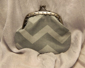 Chevron Coin purse with kiss clasp