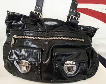 Marc Jacobs Stella Black Handbag Purse multipocket