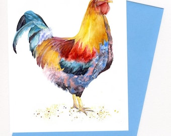 Rooster Card /Print / Kitchen Art