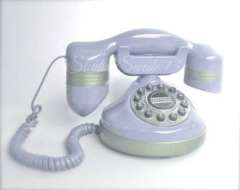 "Old Phone Photo, Retro Telephone Print, Shabby Cottage Chic, Lavender Phone, Office Decor, Purple Nostalgic Art, Girls Room Art- ""Call Me"""