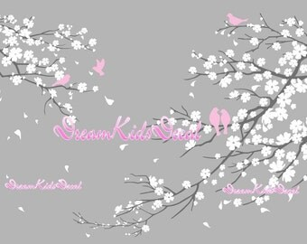 Nursery Wall Decal Wall Sticker Kids Decal - Blossoms Tree decal -DK006