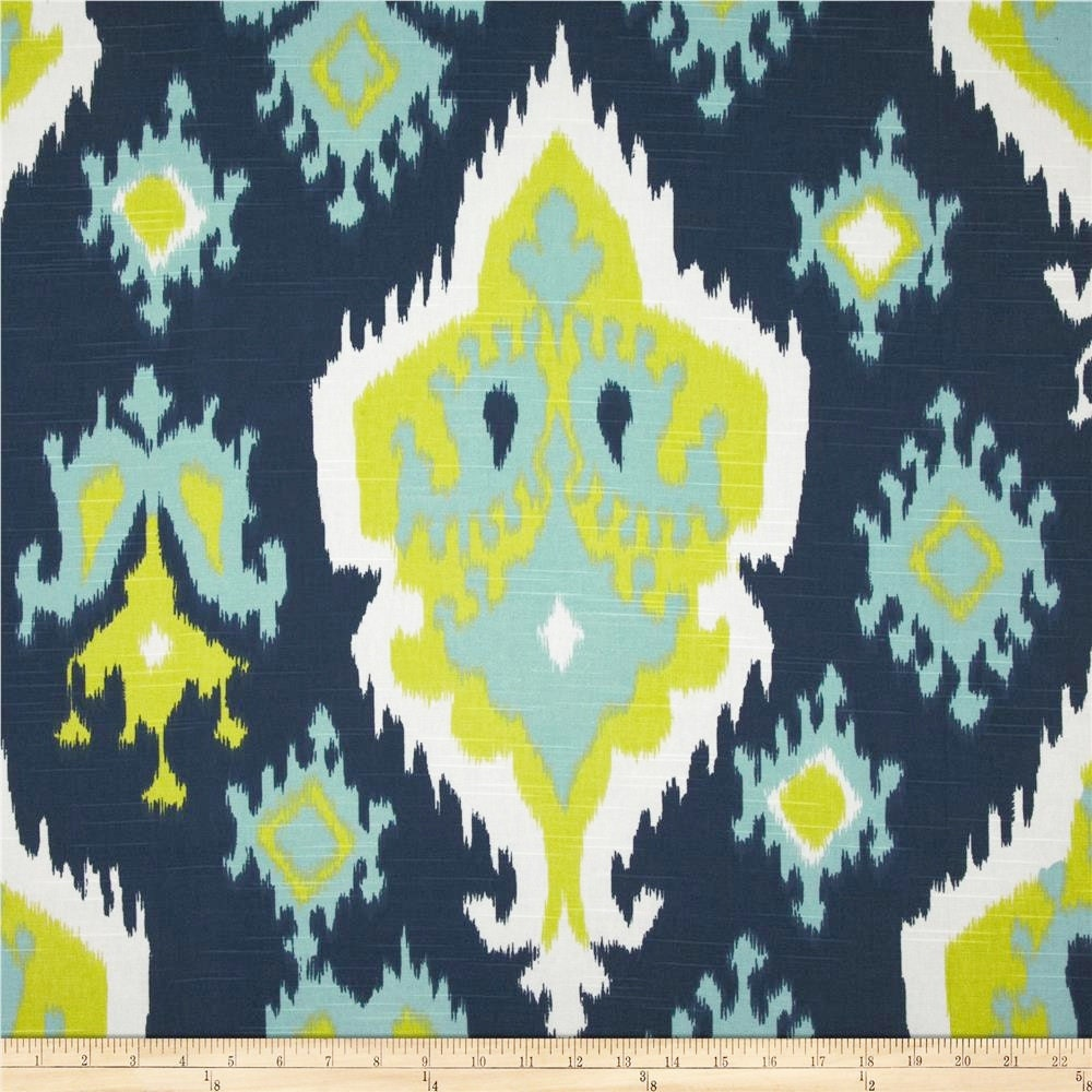 Blue Green Fabric Geometric Upholstery Premier Print