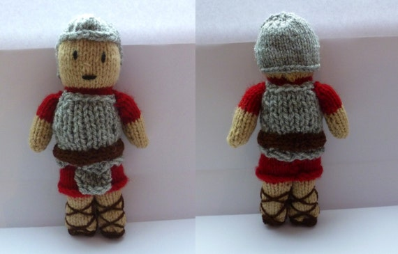 PDF knitting pattern: Roman Soldier from NerdKnitting on Etsy Studio