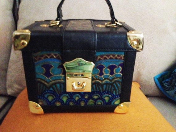 Decorative Box Lunches : Hand painted bohemian recycled decorative lunch box