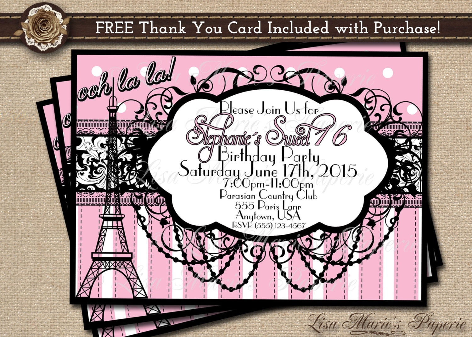 Sweet 16 Birthday Invitation Cards – Free Printable Sweet 16 Birthday Invitations