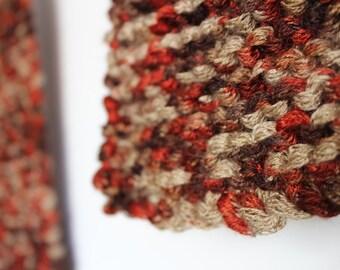 Knitted Scarf, brown scarf, womens scarf, mens scarf, ladies scarf, winter scarf, chunky scarf, warm scarf, chunky knit scarf,