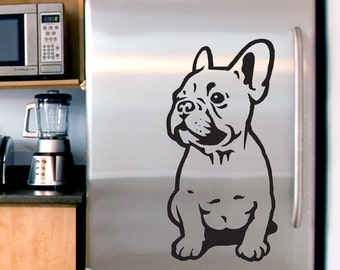 Dog Decal French Bulldog Puppy, Vinyl Sticker Decal - Good for Walls, Cars, Ipads, Mirrors Etc