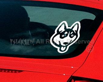 Dog Decal Siberian Husky, Vinyl Sticker Decal - Good for Walls, Cars, Ipads, Mirrors Etc