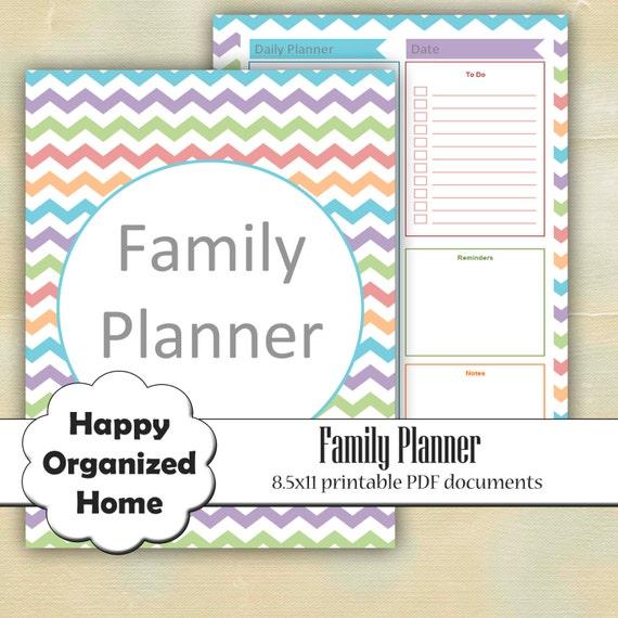 Organization Printable Family Planner By HappyOrganizedHome