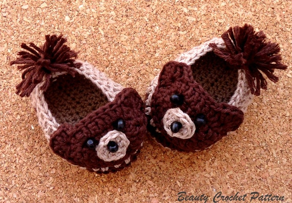 Unique and Comfy Children Teddy Bear Animal Slippers Elegant Baby % Cotton, Cable Knit Baby's First Teddy Bear with Bow in Pink (Discontinued by Manufacturer) by Elegant Baby.