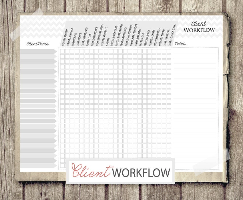 Photography Checklist Client Workflow Photography
