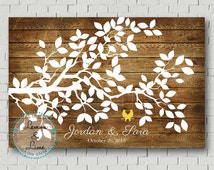 Wedding Guest Book - Guest Book Print - Wedding Wish Tree - Wedding Poster - Wedding Sign Print - Guest Book Tree - Bridal Showers Gift