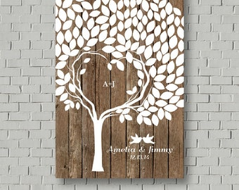 Guest Book Wedding Guest Book Alternative, Rustic Wedding Tree Guest Book Tree, Wedding Signs Wedding Guestbook, Wedding Gift Bridal Gift