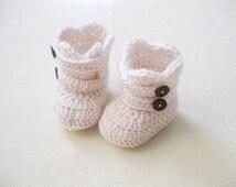 Ivory girl straps booties / baby girl shoes / girl booties
