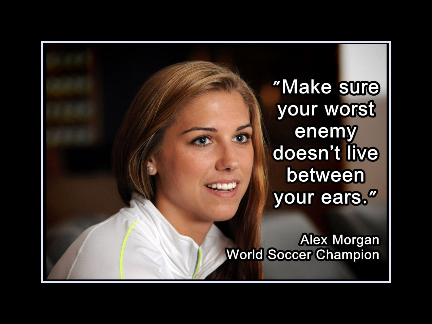 Alex Morgan Girls Soccer Confidence Wall Art Player