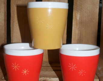 Retro Starburst Thermoware tumblers