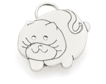 Cat ID Tag in Silver or Gold