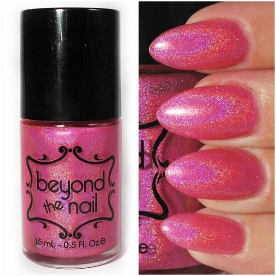 Hot Pink Galaxy Nail Products: Supernova Summer Galaxy Nail Polish Neon Pink By Beyondthenail