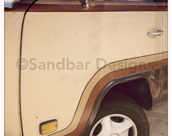 4 x 4 photo card-Shades of tan VW bus