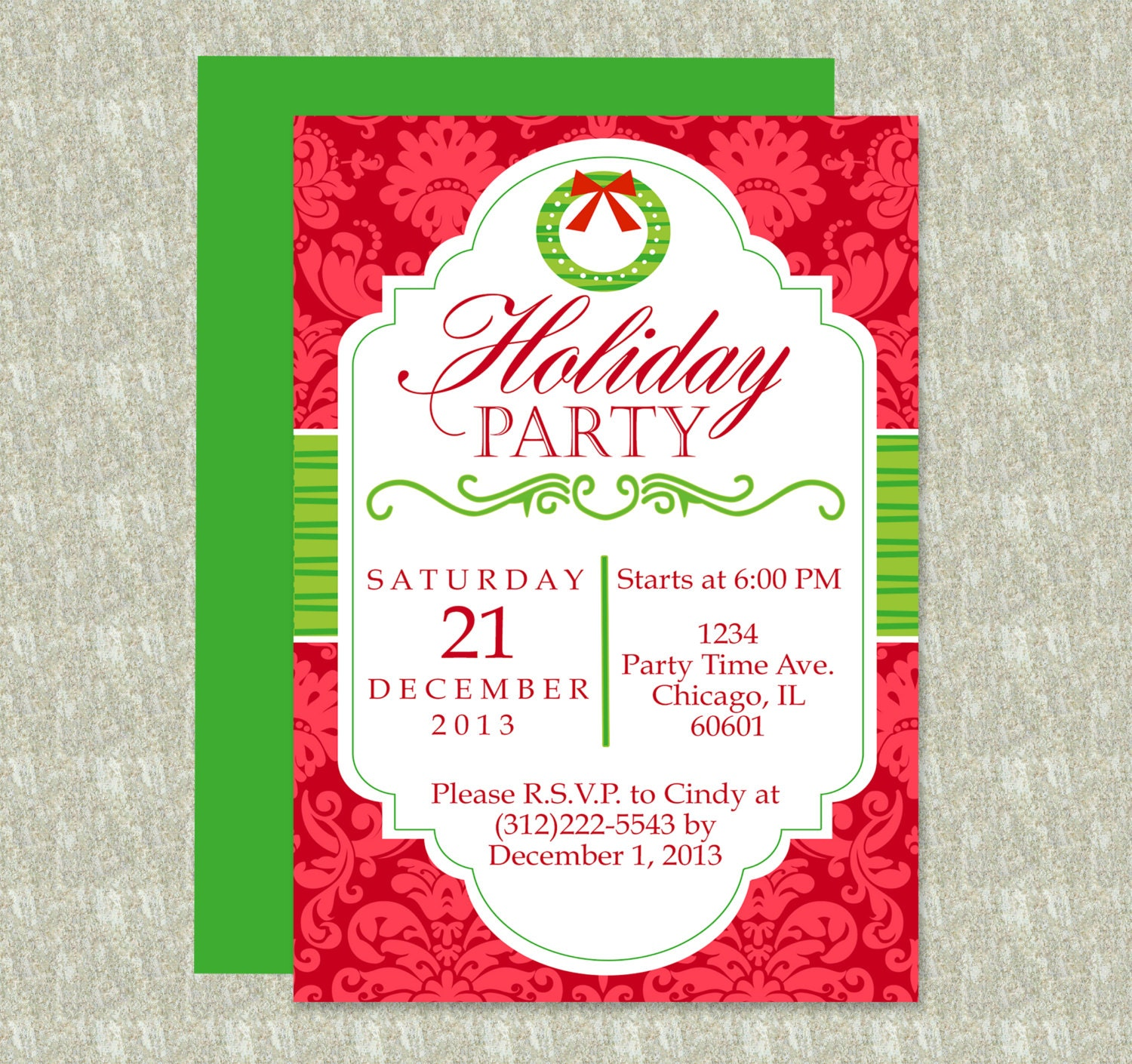 holiday party invitation editable template microsoft word