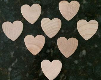 Wood hearts (10 pc)