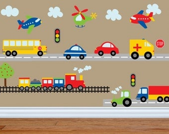 Wonderful Car Decal   Construction Wall Decal  Bus Decal  Transportation Decal    Truck Wall Decal Part 4