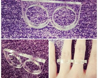 Laser Cut Acrylic Two Finger Ring Base