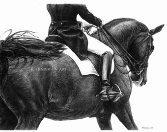 Swish - Dressage Horse *Limited Edition Giclée Print*