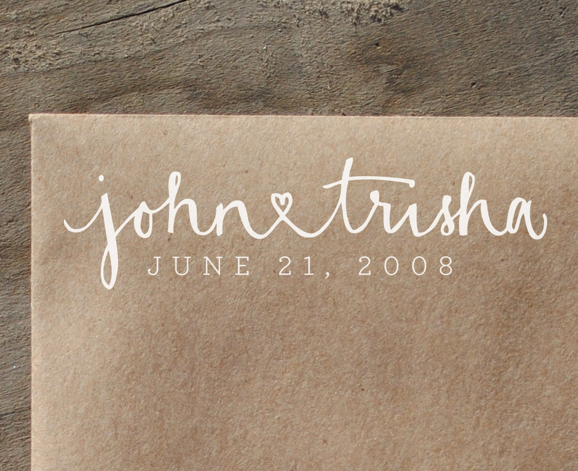 Personalized Handwritten Calligraphy And Digital Text Rubber