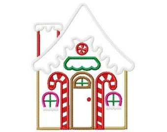 Gingerbread House Machine Embroidery Design