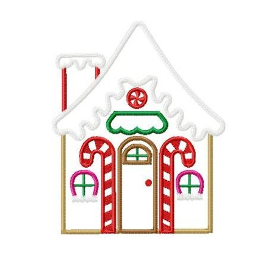 Gingerbread House Machine Embroidery Design By