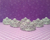 Princess crown tiara cupcake toppers in metallics tiara cupcake topper princess birthday party princess crown tiara cake tiara cookies