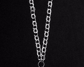 "Double Loop Necklace silver 31"""