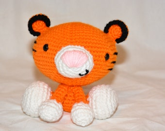 Tiny Tiger Crocheted Stuffed Animal/Toy (Made to Order)