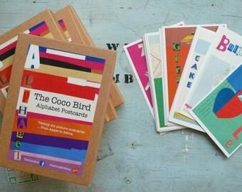 The Coco Bird Alphabet Postcards