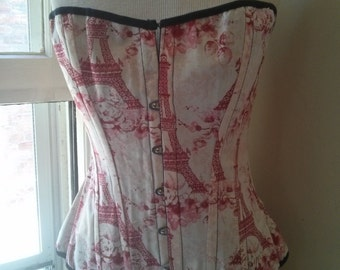 Handmade 1880' Victorian Pattern- Vive la Paris - Cotton-Coutil Plastic Boned