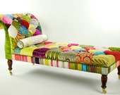 Bespoke Patchwork Chaise Longue Designers Guild Fabric