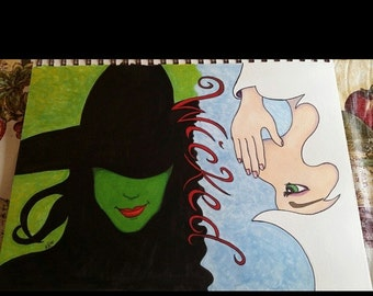 Wicked musical drawing