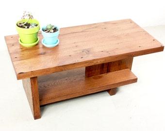 Reclaimed Wood Coffee Table With Modern Reclaimed Barn Wood Base