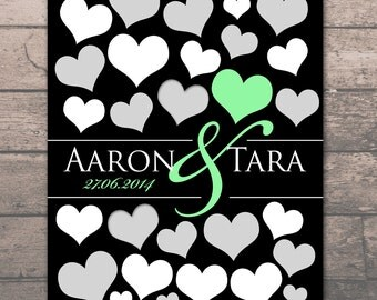BRIDAL GIFT POSTER | 22 Guest Sign In 8x10 poster | Signature Sign Poster | Small Guestbook Small Wedding Engagement Gift Poster_01