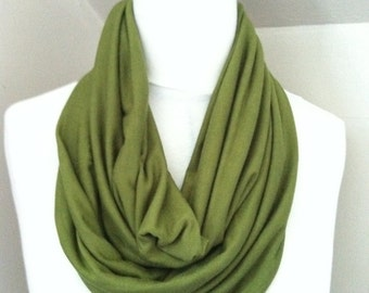 Green Jersey Infinity Scarf