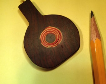 Cocobolo Pendant with Veneer Swirl